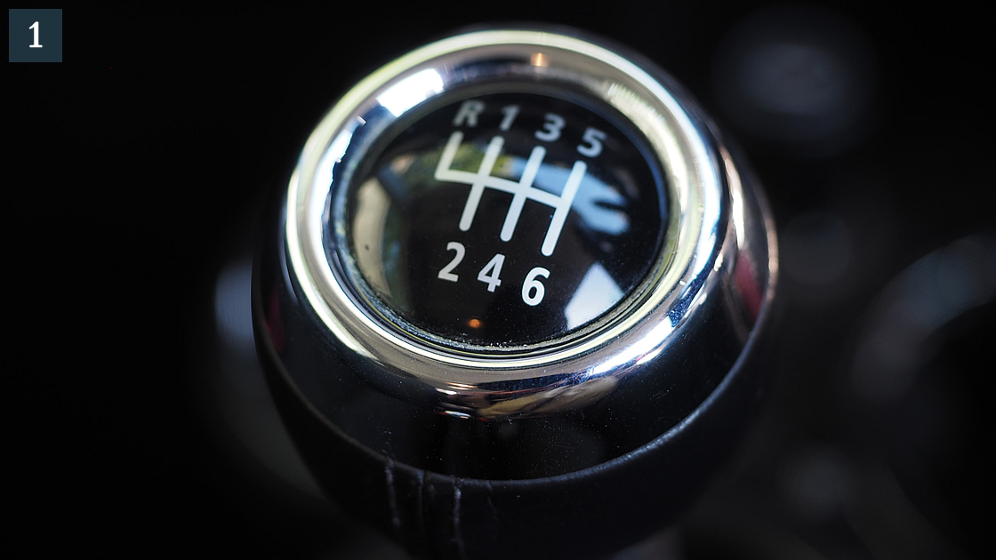 マニュアルトランスミッション 一番こだわったのはMT車であること。AT車にはほとんど乗ったことありません。