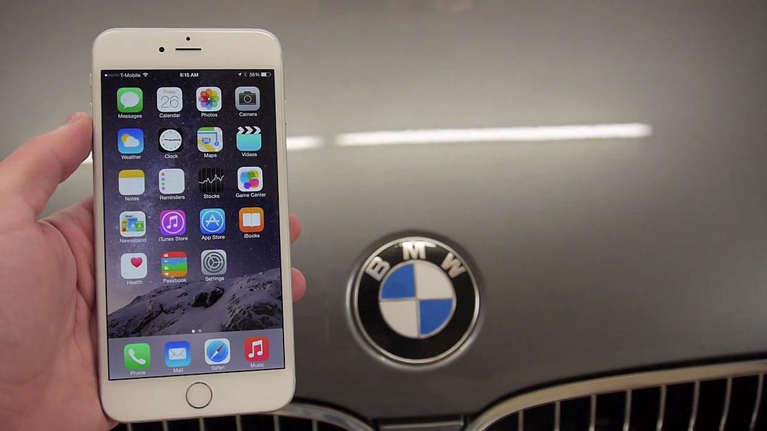 BMWでiphone6 plusを踏むとどうなるか