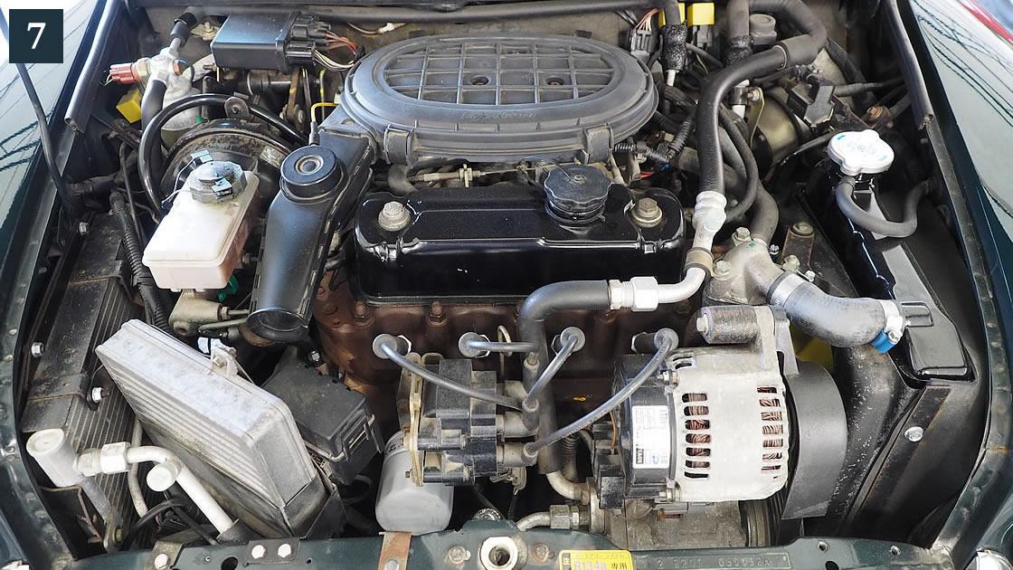 コンパクトなエンジンルーム
