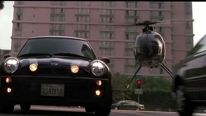 ヘリコプターに追われるミニ…