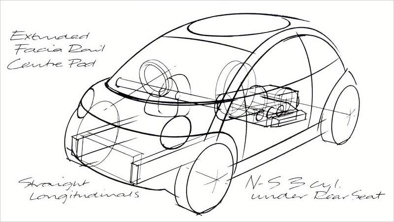 ミニの歴史ドキュメンタリー。初代BMWミニの試作機の姿も