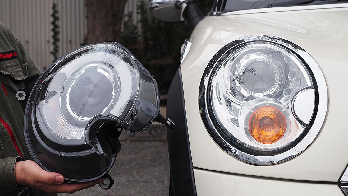 LED風ミニヘッドライト
