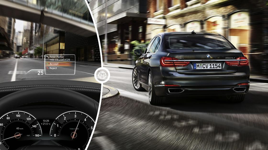 BMWナビゲーション「iDrive」- ヘッドアップディスプレイ