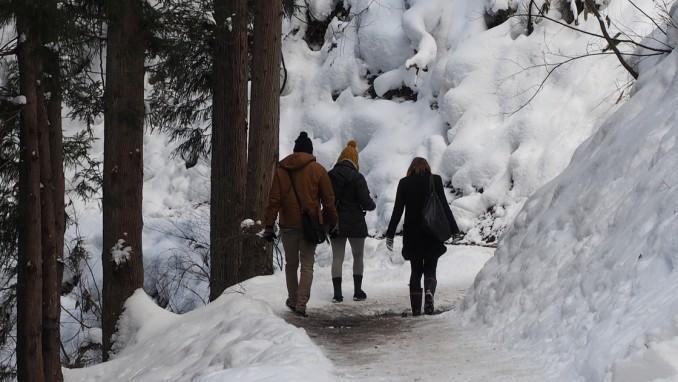 雪国での転倒しないための冬靴