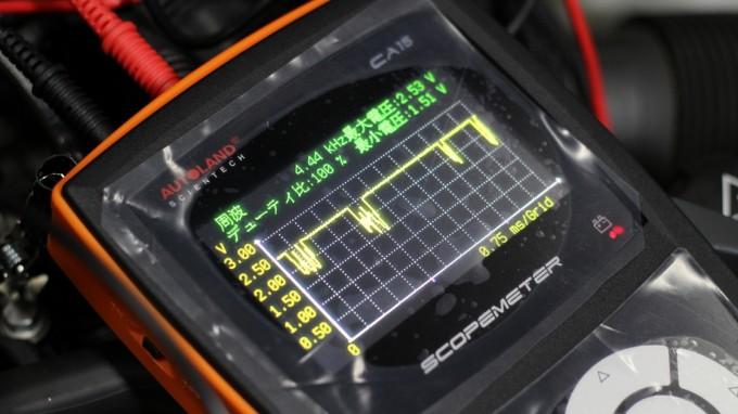 オシロスコープで確認できる電気の波形