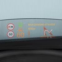 新型ミニコンバーチブルのオプション装備 ヘッド・アップ・ディスプレイ