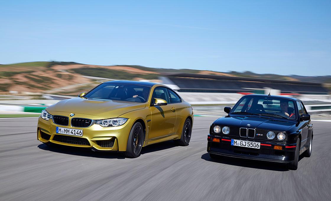 BMW-M4(F82)と初代M3の併走シーン