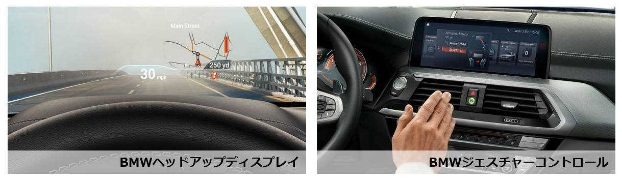 新型BMW X3_ヘッドアップディスプレイ&ゼスチャーコントロール